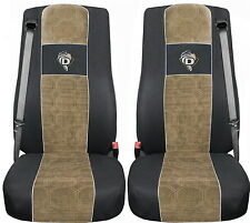 COPRISEDILI IN VELOURS PER CAMION DAF XF 105 / XF 106 NERO - BEIGE For TRUCK A24