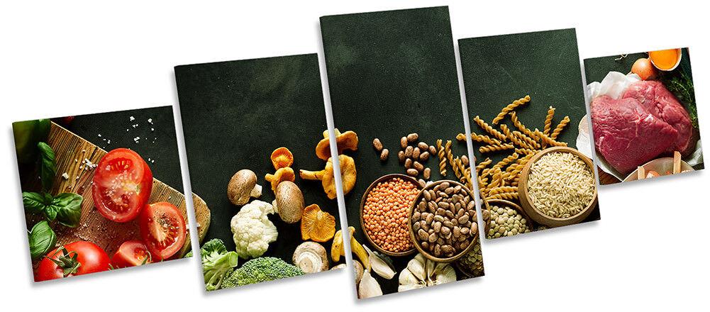 Lienzo Enmarcado alimentos cinco Cocina Verduras Frescas impresión de cinco alimentos paneles de pa rojo  Arte 4e0c71