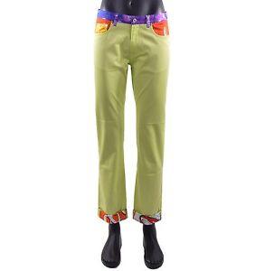 MOSCHINO-COUTURE-Runway-Jeans-Stile-Estate-Pantaloni-con-Soda-Pop-PRINT-VERDE-05419