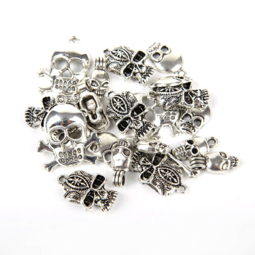 DIY12-210Pcs Silver Plated Loose Spacer Beads Charms Jewelry Making Wholesale