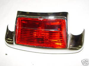 PANHEAD-SHOVEL<wbr/>HEAD-FT~REAR FENDER TIP W/ RED LIGHT LENS