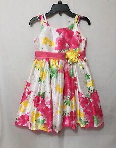 2d6d5f884113 Girls size 6X Youngland sleeveless party dress floral print sparkles ...