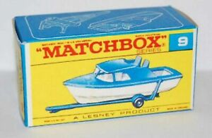 Matchbox-Lesney-No-9-Cabin-Cruiser-style-F-empty-Repro-Box