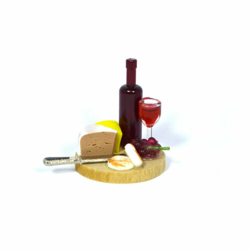 CREAL 70100 Wine and Cheese On A Board 1:12 for doll house NEW #