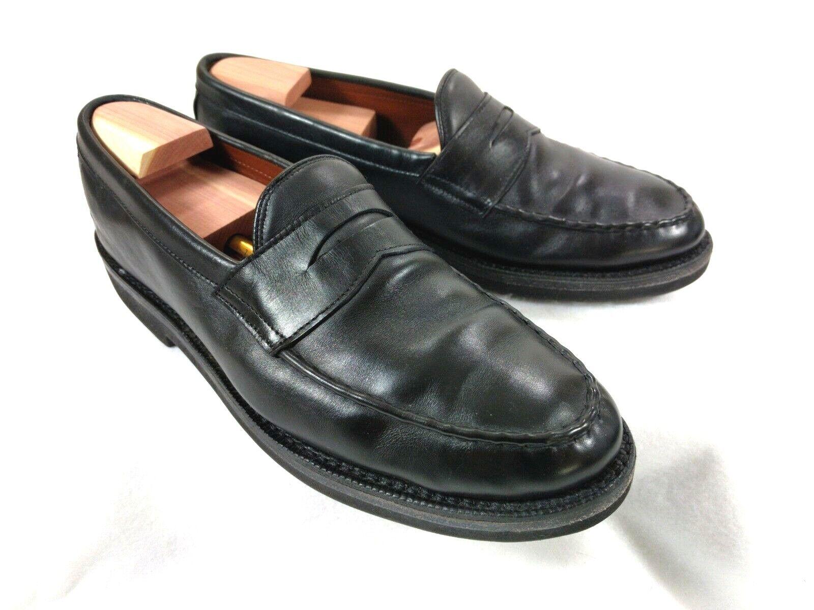 Allen Edmonds Patriot Mocasines Cuero Negro Penny Vestido De Trabajo Zapatos para hombre D