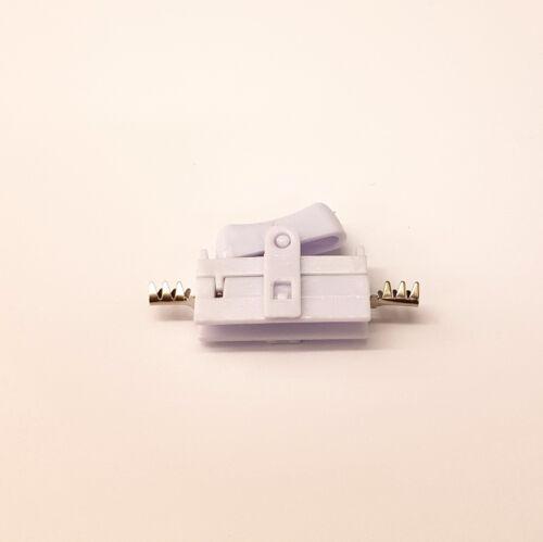 WHITE INLINE ROCKER TORPEDO SWITCH DIY LAMP LED VIVARIUM