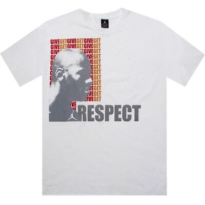 Nike Air Jordan Iii 3 Give Get Respect Men's White T Shirt 207995-100 Superior In Quality