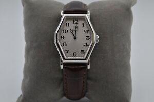 Dunhill-Centenary-achteckig-Handaufzug-Armbanduhr-unisex-sehr-gut