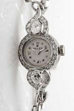 Vintage 1950s Platinum ROLEX 2ct VS H Pear Cut Diamond Ladies Watch & BOX & Wty