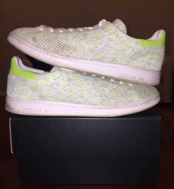 Adidas Stan Smith Primeknit Electricity Yellow Green