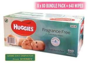 New-640pcs-HUGGIES-Thick-Baby-Wet-Wipes-Bulk-Mega-Pack-Fragrance-Free