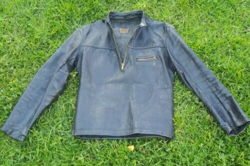 VINTAGE 1940s TAUBERS CAFE RACER HORSEHIDE LEATHER