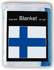 Finland Flag Fleece Blanket *NEW* 5 ft. x 4.2 ft Finnish Travel Throw Cover Gift