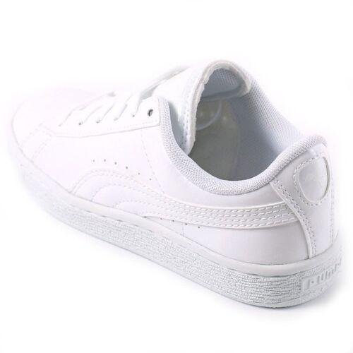 a039ce9e97917 362247 Blanc Sneakers Baskets Patent 03 Classic White Vernis Filles Enfants  Puma z1q6HwBB