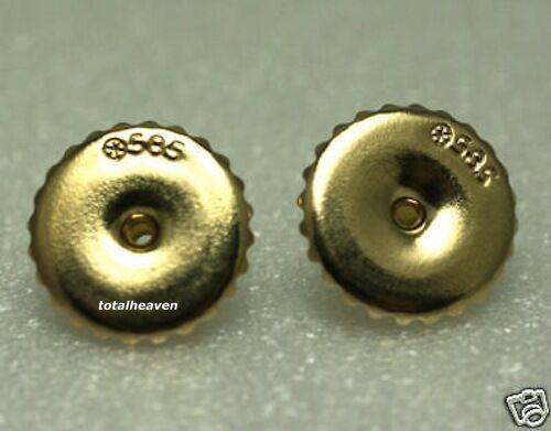2 Or 14K Heavy Duty friction Earring Backs