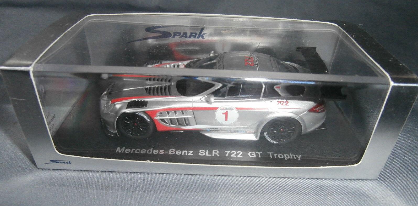 Spark Models 1 43 Scale Mercedes Benz SLR 722 GT Trophy Jean Alesi S1027