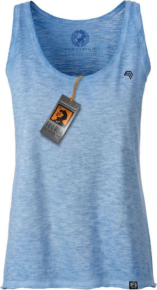 Jan 8017 Femmes Coton Biologique Tank Top T-shirt Companieer Bleu Sky Multicolore...