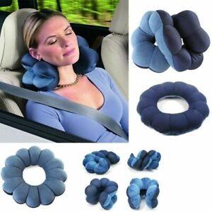 Cuscino Per Il Collo Da Viaggio.Cuscino Per Collo Anti Cervicale Da Viaggio Poggia Testa Ergonomico Ebay