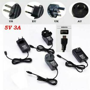 NEW-5V-3A-Micro-USB-AC-Adapter-DC-Wall-Power-Supply-Charger-AU-US-EU-UK-Plug