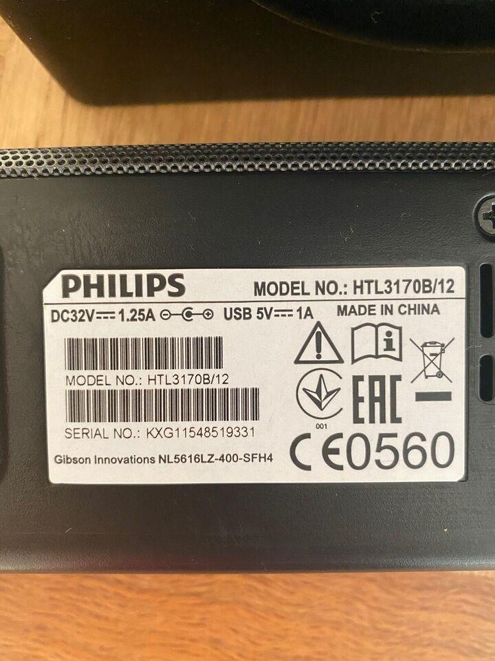 Soundbar, Philips, HTL3170B/12