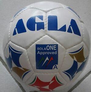 Dettagli su Pallone Calcio a 5 AGLA Bola One Approved BiancoBlu