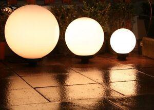 Set 3 sfere luminose da giardino globo illuminazione da esterno