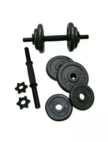40 LB Adjustable Dumbbell Weight Set FREE SHIPS FAST CAP CAST IRON Set