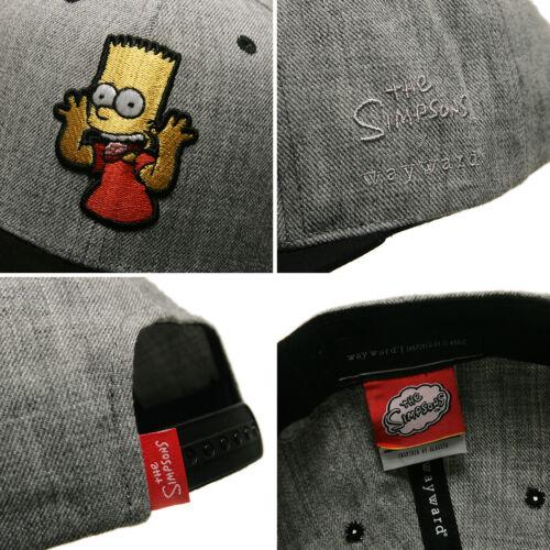 Unisexe Hommes Sous Licence Le Simpsons Bart Simpson Casquette de Baseball Hip Hop Snapback Chapeaux