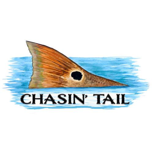"Vinyl Decal Car Truck Boat RV /""Chasin/' Tail/"" Redfish Tail"