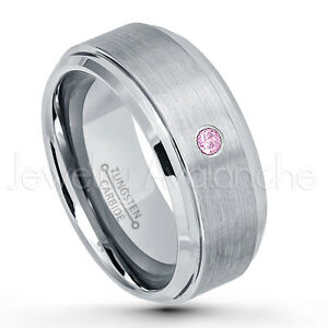 Image Is Loading 0 07ct Pink Tourmaline Ring October Birthstone