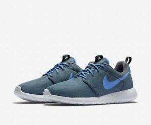 the best attitude b4c88 205e5 Image is loading new-Nike-Roshe-One-Premium-Anthracite-Blue-Men-