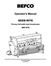 Befco Seed Rite Srt 074 Operators Maintenance Service Parts Manual Seed Drill