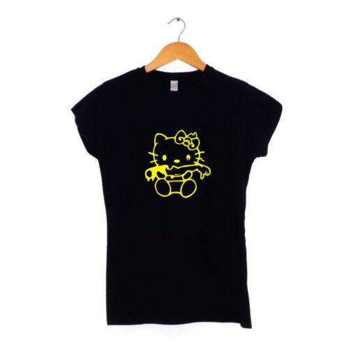 Evil Hello Kitty Womens Ladies T-Shirt S-XXL Dark Zombie Gothic