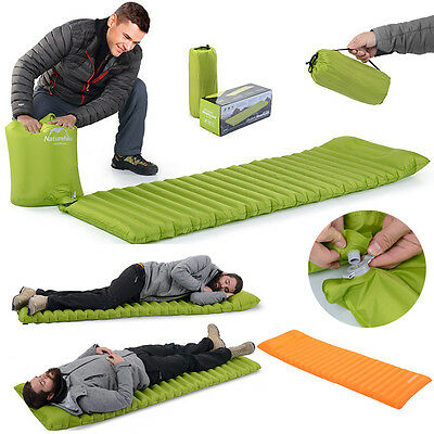 Naturehike Inflatable Camping Mattress Air Mat Pad Sleeping Hiking Picnic Mat