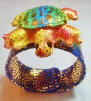Snappies Snaparound Animal Bracelets rainbow Turtle Free Shipping