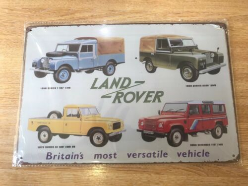 VINTAGE RETRO STYLE METAL TIN SIGN POSTER LAND ROVER CAR RARE CAVE WALL HOME