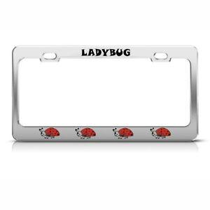 Ladybug Ladybugs Metal License Plate Frame Tag Holder Ebay