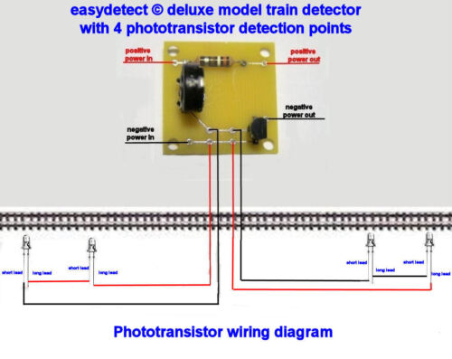 DELUXE N SCALE MODEL TRAIN DETECTOR KIT WITH 4 DETECTION POINTS