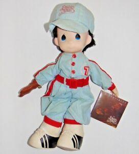 Precious-Moment-Doll-1991-by-Samuel-Butcher-Co-baseball-player-boy
