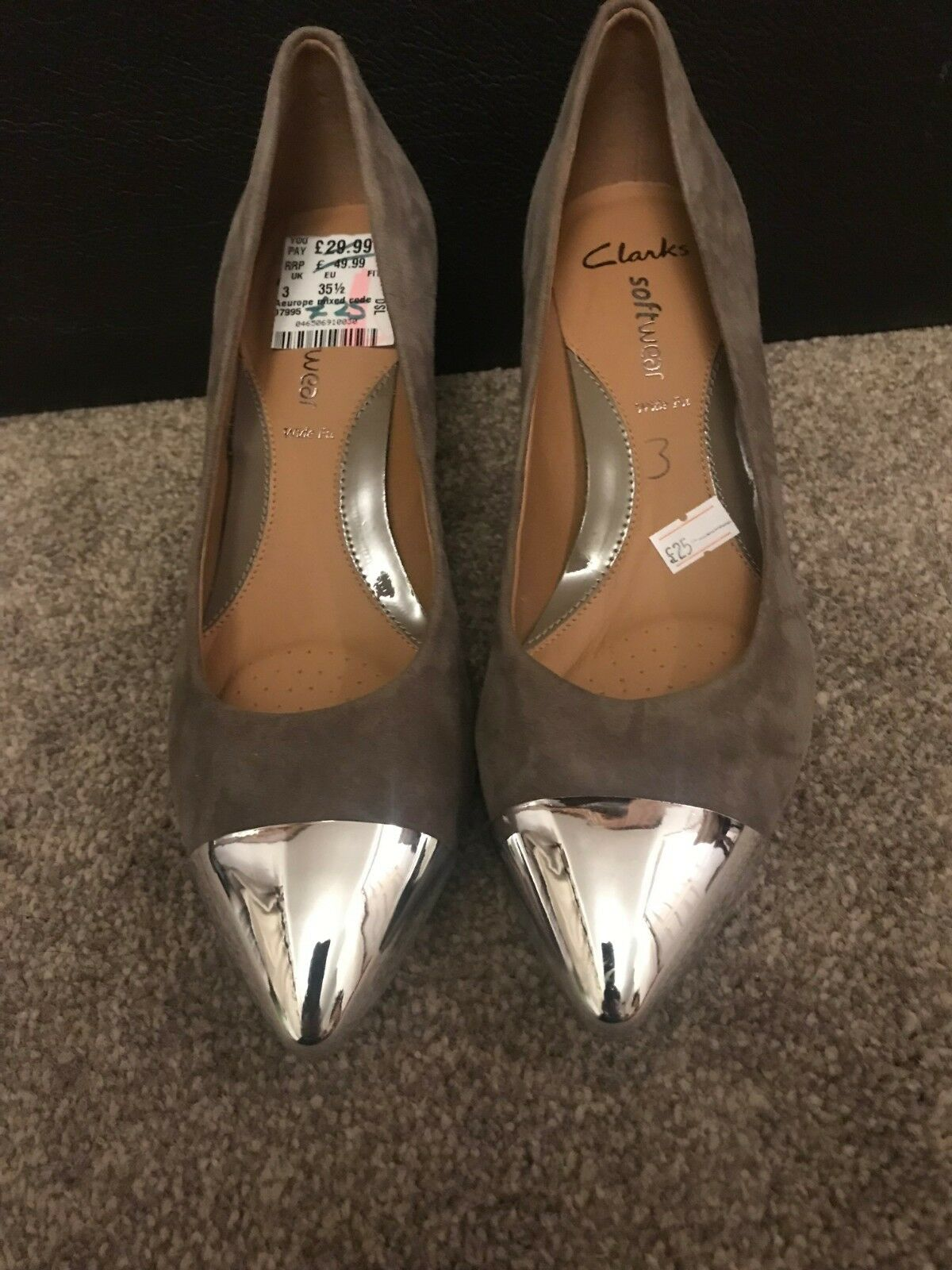Clarks Beige   Brown, Heel, Ex-Display, Women Ladies Size 3. (36)