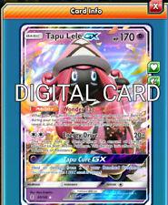 PTCGO, Digital Card RR Tapu Bulu GX Rainbow RARE for Pokemon TCG Online