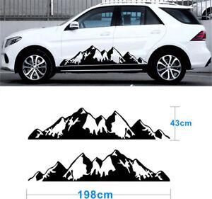 2x Snow Mountain Waterproof decal Vinyl Sticker kit Off Road Camper