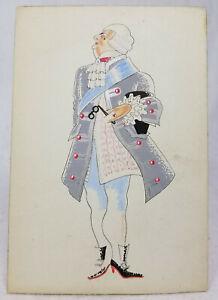 Antique-Style-Vintage-Costume-Design-Illustration-English-French-Unsigned