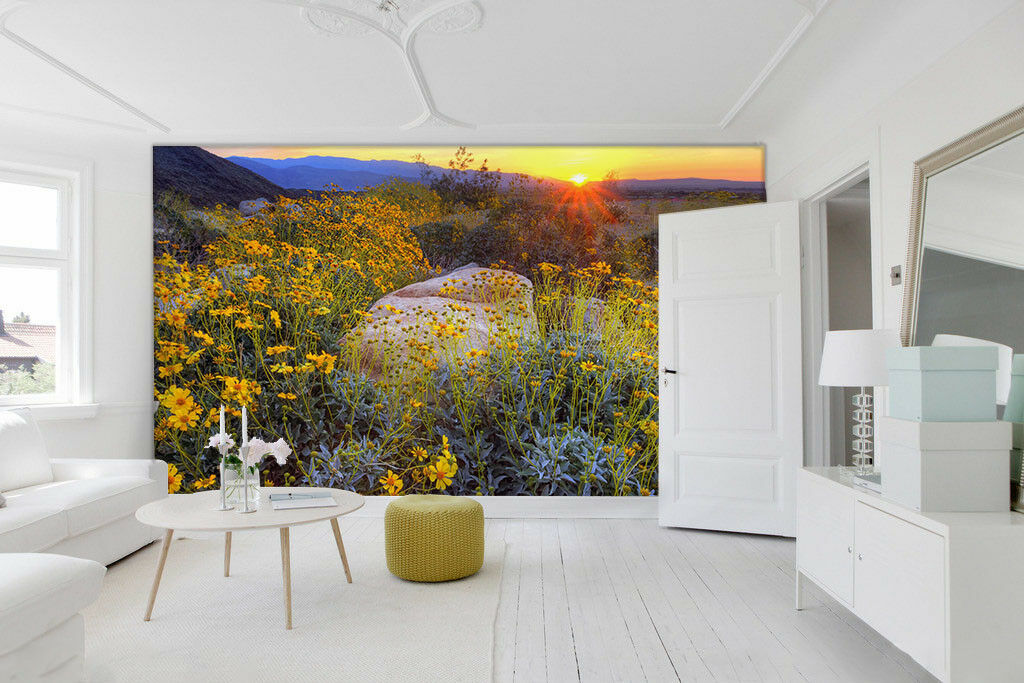 3D Gelbe Gänseblümchen Sonne 7 7 7 Tapete Wandgemälde Tapete Tapeten Bild Familie DE  | New Style  | Smart  | Neuer Stil  9c9ae9