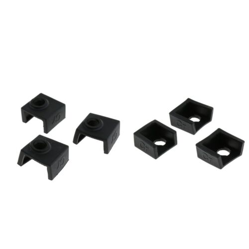 6x Heater Block Silicone Cover for MK7//MK8//MK9 for Creality CR-10,10S,S4,S5