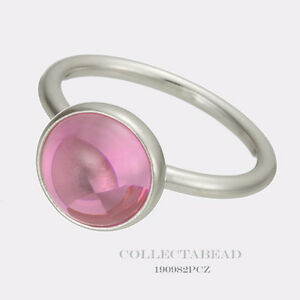 2e840efaa3d69 Details about Authentic Pandora Silver Poetic Droplet Pink Ring Size 52 (6)  190982PCZ SPECIAL!