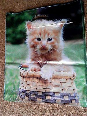45x Cat ,plastic printed carrier bags , 45x39cm , one price delivery