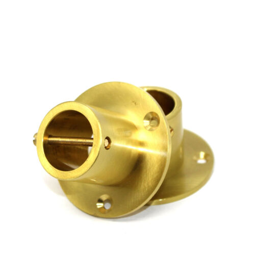 DECKING ROPE FITTINGS 2 PACK ROPE CUP ENDS FOR 24mm DECKING ROPE BRASS