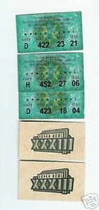 5) Super Bowl XXXIII ticket stubs John Elway last game tickets ... e1014ab58