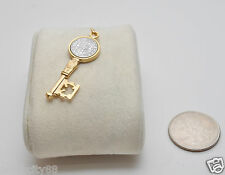 St Saint Benedict Key Medal Pendant Gold Silver Color Charm for Rosary Bracelet